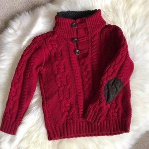 GAP Toddler Boy Red Knit Sweater - 5T